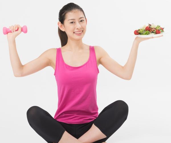 バランスよく食事と運動を